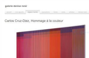 Galerie Denise  René  « Carlos Cruz-Diez »   « Hommage à la couleur »