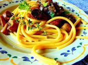 Pâtes champignons saucisses Gusta