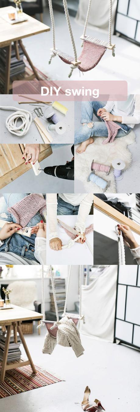 diy swing woolen balançoire intérieure-en laine - blog déco - clem around the corner