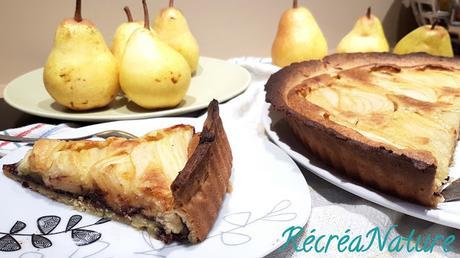 Tarte Sablée Amandine Poire Chocolat