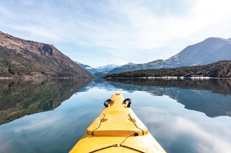 Kayak au lac Wanaka en Nouvelle-Zélande