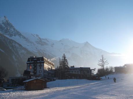 Vue sur le Mont Blanc depuis la station de ski de Chamonix