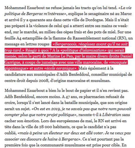 #racisme : le candidat #RN de #Bergerac prend #Zemmour au pied de la lettre