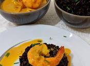 Curry Gambas Noir Vénéré.
