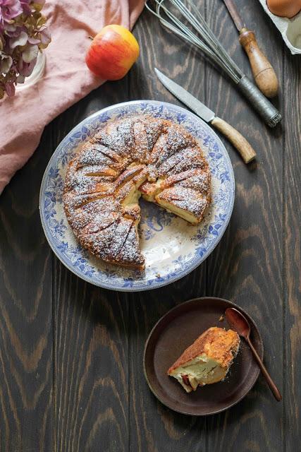 gâteau d'automne , frais , dessert aux pommes
