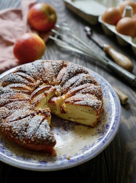 ricotta, frais , dessert aux pommes