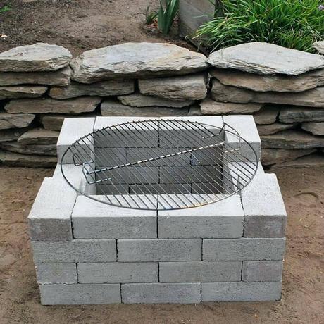 concrete block fire pit concrete block fire pit area