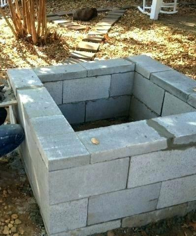 concrete block fire pit concrete block fire pit kit