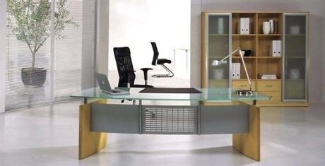 modern glass desk archtech modern glass desk