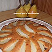 Moelleux aux poires et pépites de chocolat - Mes recettes et photos de gâteaux