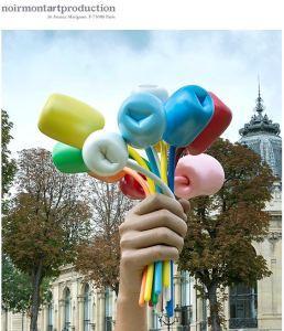 Jeff KOONS aux jardins des Champs-Elysées