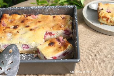 Gâteau à la ricotta et aux framboises