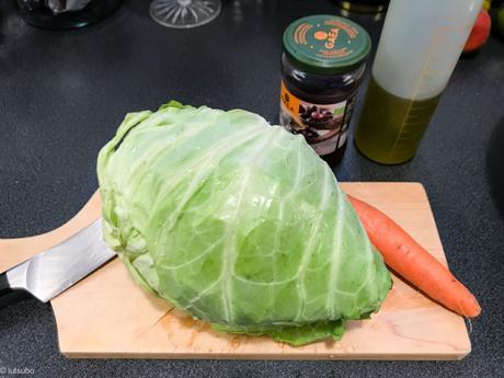 Salade grecque ? – Chou pointu, carotte et olives