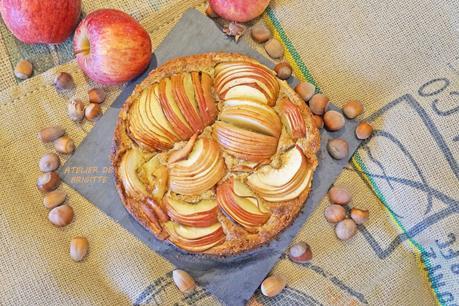 Tarte aux pommes et noisettes, ( Pâte Sablée noisettes recette du chef Conticini Ph.)