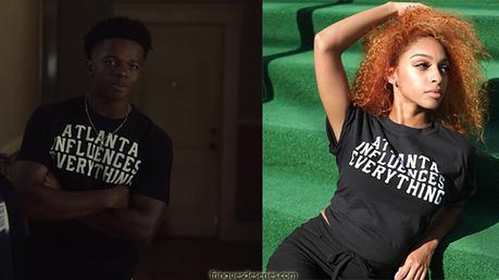 Comment élever un super-héros (Raising Dion) : le t-shirt «Atlanta influences everything»de Malik dans s1e02
