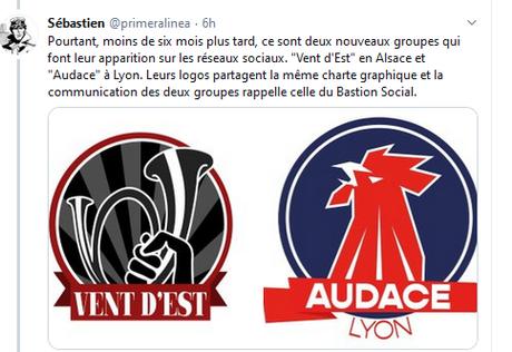 la mue de l'ex #BastionSocial en Vent d'Est et Audace, une reconstitution de ligue dissoute qui ne dit pas son nom