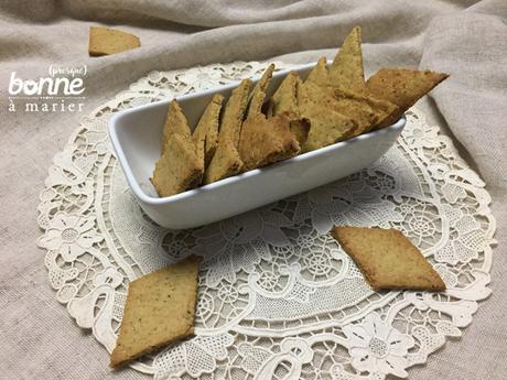 Crackers de houmous aux herbes