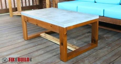 outdoor coffee table cover concrete top outdoor coffee table
