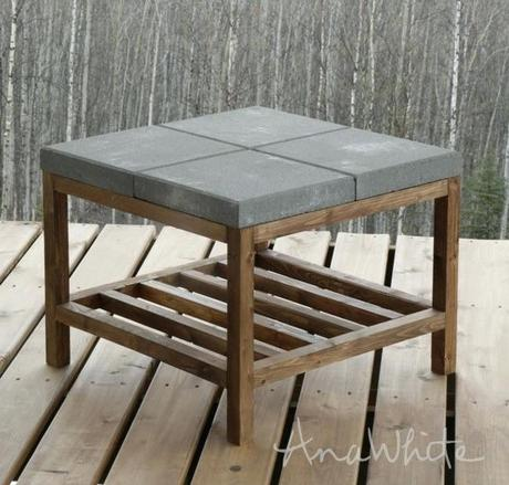 outdoor coffee table cover concrete outdoor coffee table