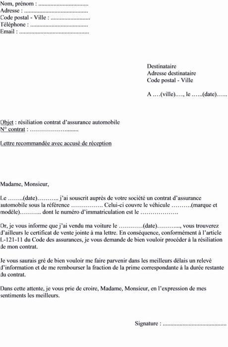 Resilier assurance Voiture Sans Certificat De Cession De ...
