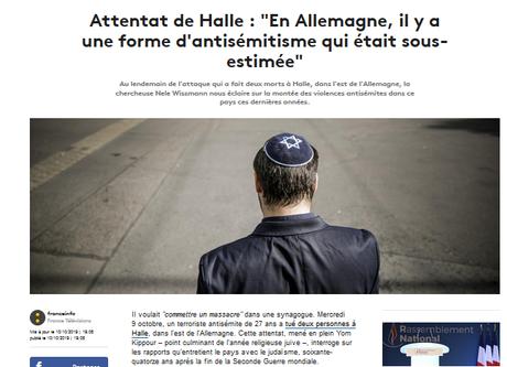 Djihadistes de souche : les terroristes d'extrême-droite à l'école de Breivik #Halle #racisme #antisemitisme