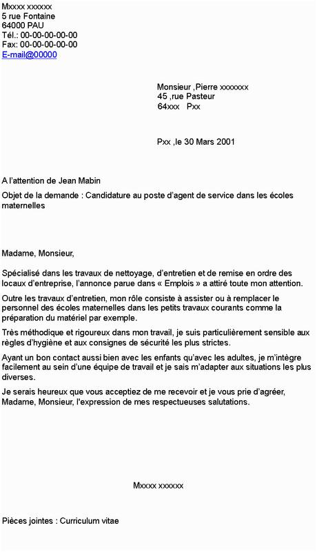 Modele Lettre De Motivation Pour Emploi Espace Vert En ...