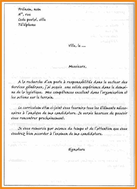 Nouvelle Exemple De Lettre De Motivation Pour Emploi ...