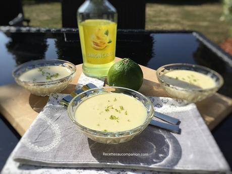 Crème dessert au limoncello au companion thermomix ou sans robot