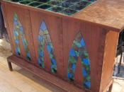 mosaïque bois décoration d'objets original