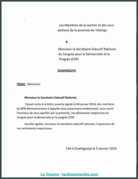 lettre de demission chsct | À Découvrir