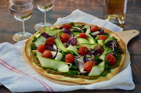Pizza Léoube aux légumes et crème d'aubergine