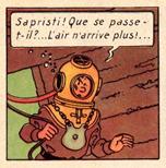 Le scaphandrier de Tintin