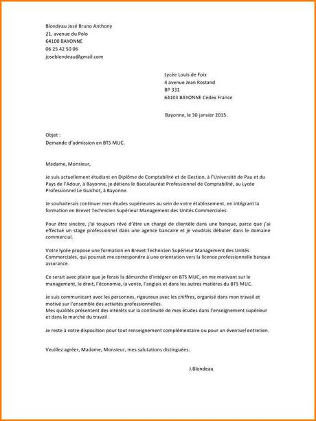 Lettre De Motivation Bts Communication Paperblog