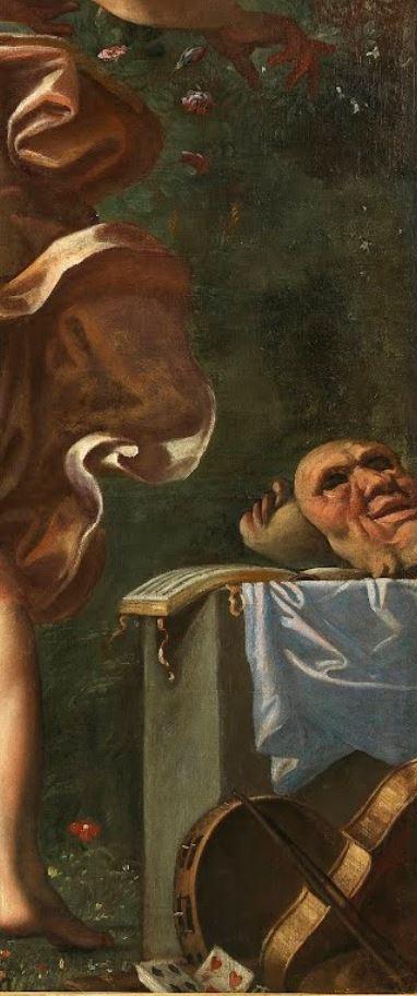 Carracci 1596 Le choix d'Hercule Capodimonte Naples detail