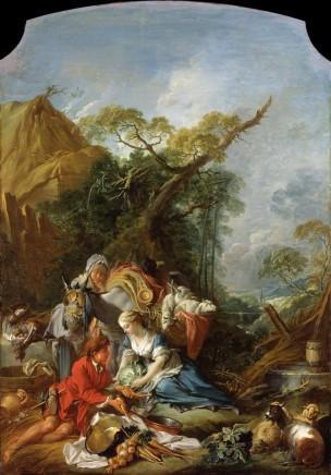 Boucher 1735 ca le vendeur de legumes Crysler Museum of Art, Norfolk