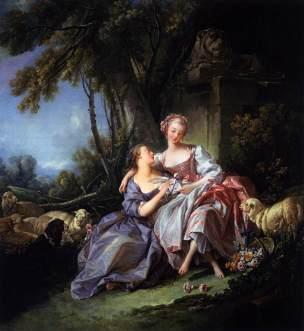 Boucher C La lettre d'amour 1750 National Gallery of Art, Washington
