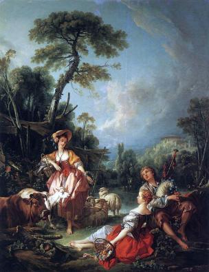 Boucher 1749 La couronne accordee au berger Wallace Collection