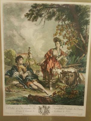 Boucher 1748 Le berger recompense gravure de Gaillard