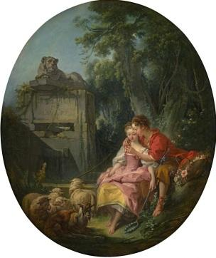 Boucher 1748, L agreable lecon Boucher National Gallery of Victoria, Australie