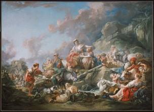 Boucher 1761 La Caravane Museum of Fine Arts, Boston