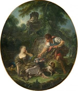 Boucher 1748 Le Panier mysterieux , National Gallery of Victoria, Australie