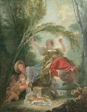 Fragonard A La Bascule c.1750-52. Fondation Thyssen-Bornemisza, Madrid