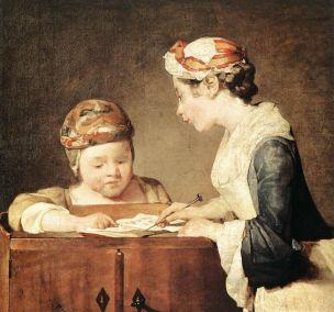 Chardin Y La jeune gouvernante 1735-36 National Gallery Londres