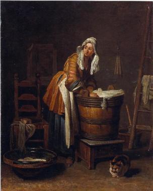 Chardin Z la blanchisseuse Toledo, Museum of Art
