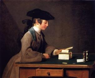 Chardin Y Le chateau de cartes 1736 37 National Gallery Londres