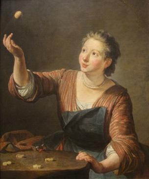 Chardin Y Les Osselets 1734 Baltimore Museum of Art