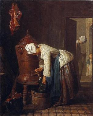 Chardin Z Femme a la fontaine Toledo, Museum of Art