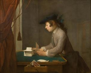 Chardin X Boy Building a House of Cards 1735, The National Trust, Waddesdon Manor