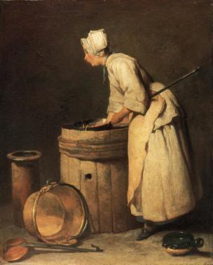 chardin E L'ecureuse 1738 hunterian art gallery glasgow