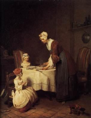 Chardin 1740 Le benedicite Louvre